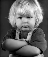cute angry kid